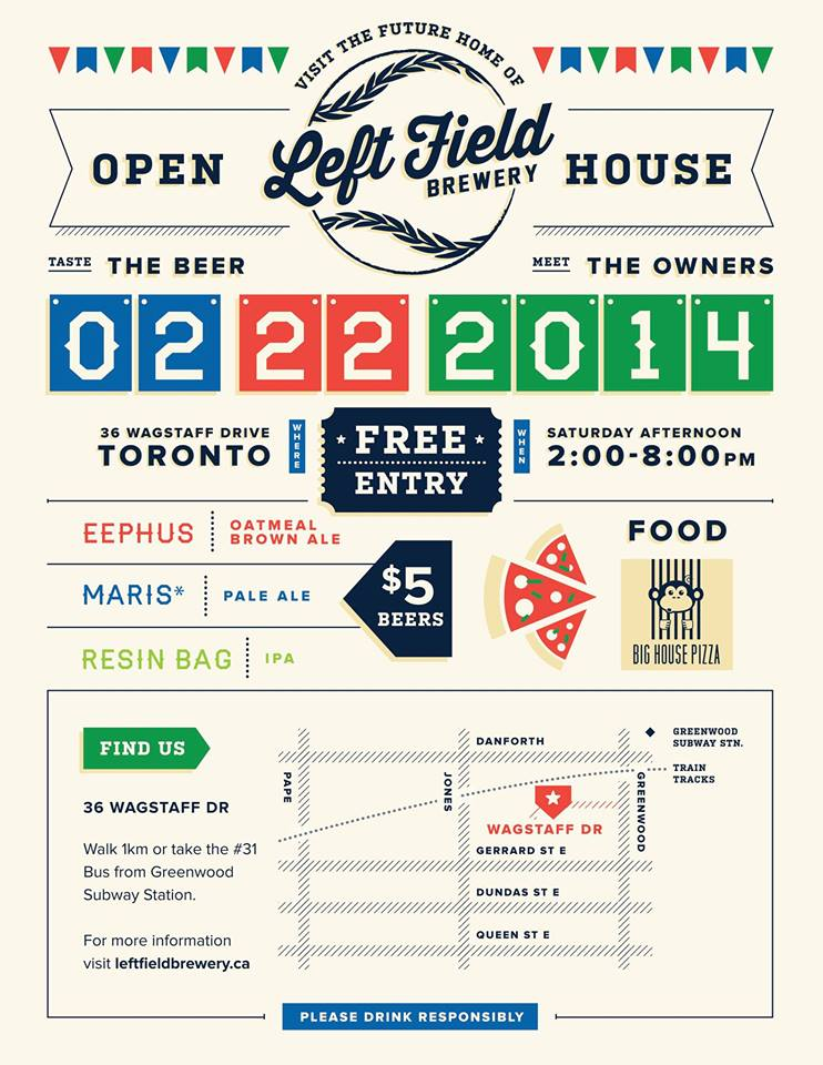 left field brewery open house