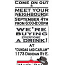 Meet Your Neighbours and Have a Drink on Us!