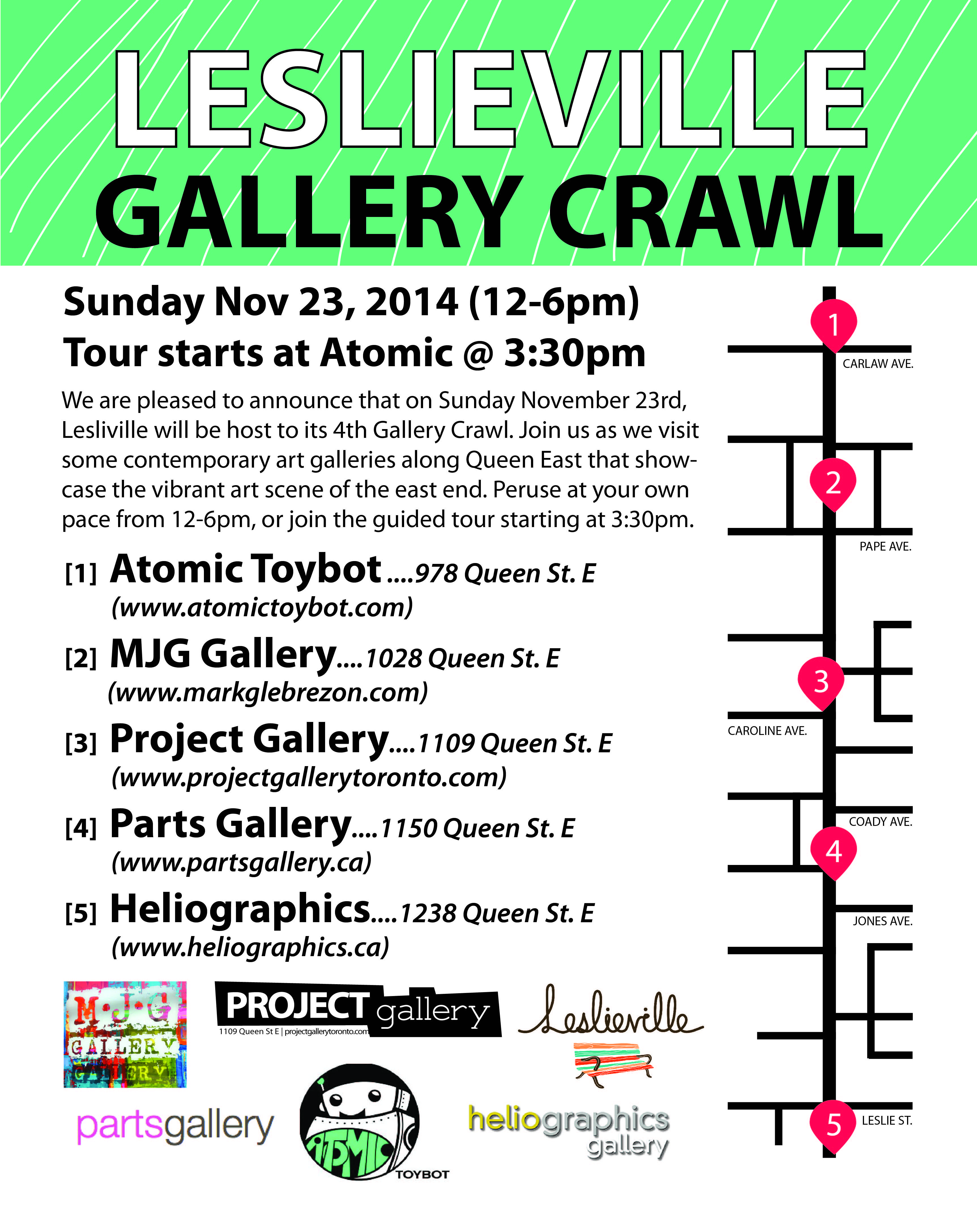 Leslieville News: 4th Leslieville Art Gallery Crawl